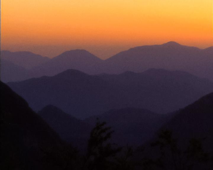 montagne-tramonto